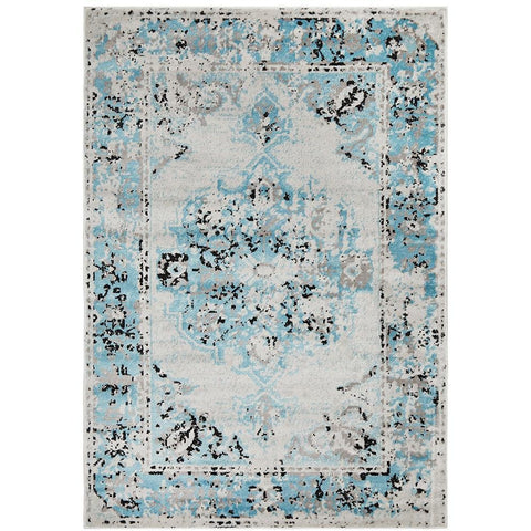Dellinger 232 Blue Beige Black Transitional Rug - Rugs Of Beauty - 1