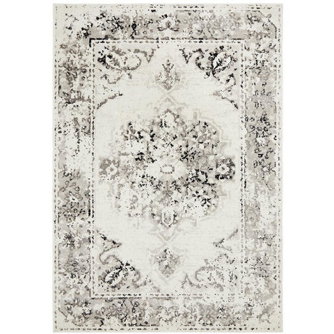 Dellinger 232 Black Beige White Transitional Rug - Rugs Of Beauty - 1