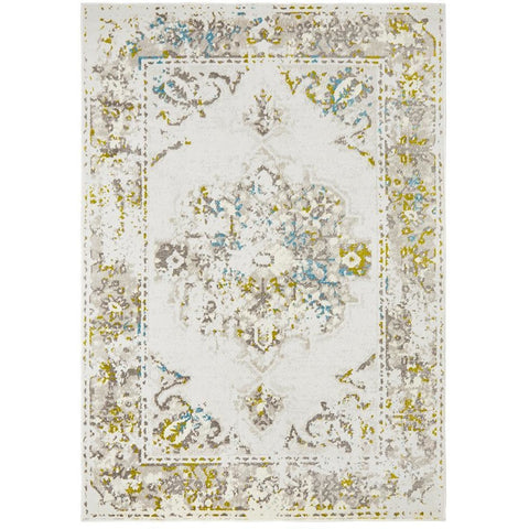 Dellinger 232 Green Blue Beige Grey Transitional Rug - Rugs Of Beauty - 1