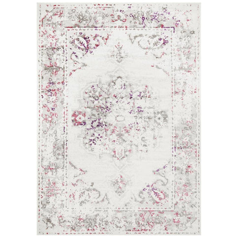 Dellinger 232 Pink Beige Grey Transitional Rug - Rugs Of Beauty - 1