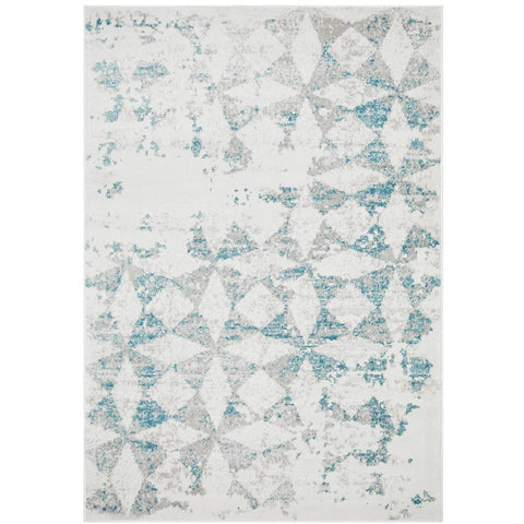 Dellinger 234 Blue Beige Grey Diamond Patterned Modern Abstract Rug - Rugs Of Beauty - 1