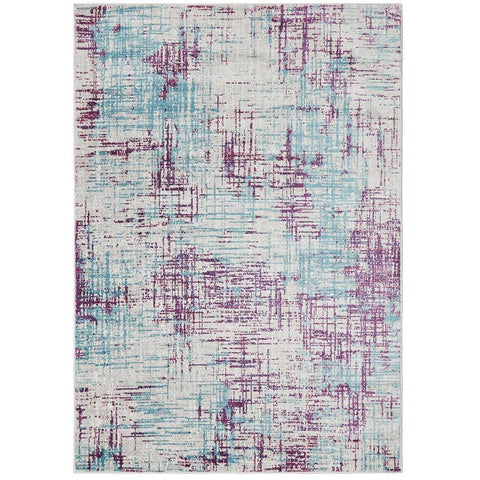 Dellinger 238 Purple Blue Beige Modern Abstract Patterned Rug - Rugs Of Beauty - 1