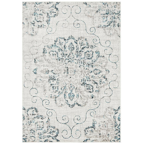 Dellinger 239 Blue Black Grey Beige Transitional Rug - Rugs Of Beauty - 1
