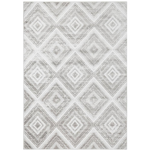 Dellinger 246 Grey Beige Diamond Patterned Abstract Rug - Rugs Of Beauty - 1
