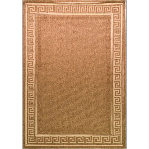 Florence Lorenzo Patterned Border Rug - Natural / Beige - Rugs Of Beauty