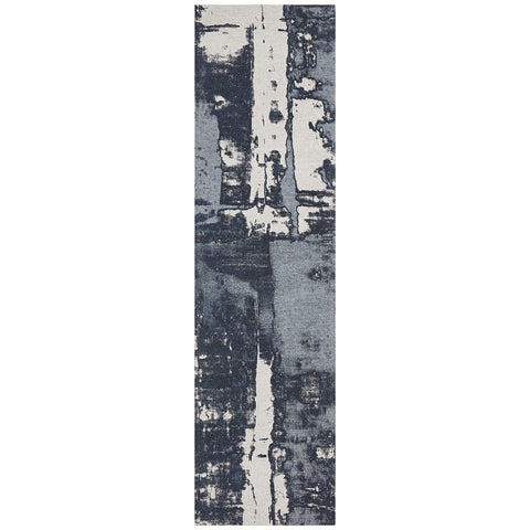 Asgard 175 Denim Blue Modern Abstract Runner Rug - Rugs Of Beauty - 1