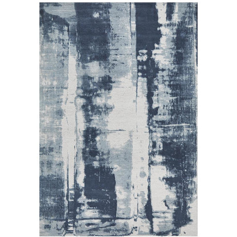 Asgard 175 Denim Blue Modern Abstract Rug - Rugs Of Beauty - 1