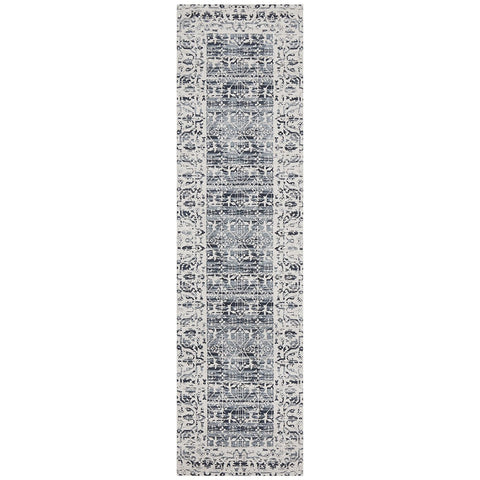 Asgard 176 Denim Blue Transitional Runner Rug - Rugs Of Beauty - 1