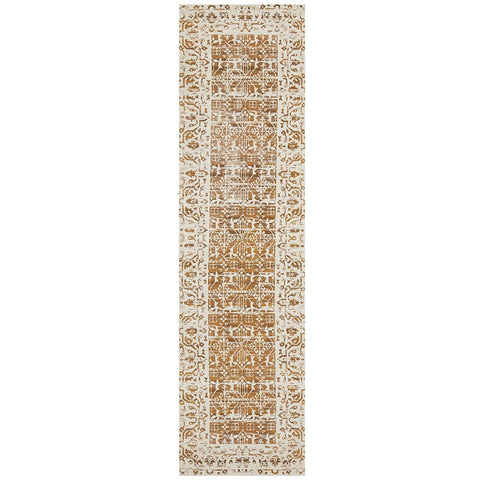 Asgard 176 Mustard Transitional Runner Rug - Rugs Of Beauty - 1