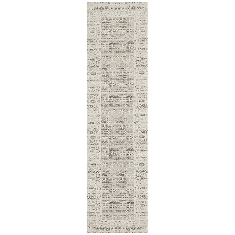Asgard 176 Silver Grey Transitional Runner Rug - Rugs Of Beauty - 1