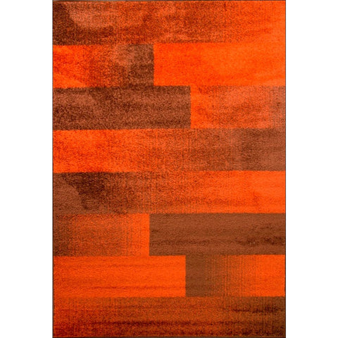 Modern Designer Graf Rug - Rust - Rugs Of Beauty - 1