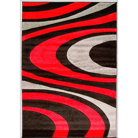 Orleans Rug - Honesty - Black/Red - Rugs Of Beauty