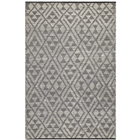 Quivira 471 Grey Beige Denim Blue Patterned Modern Rug - Rugs Of Beauty - 1