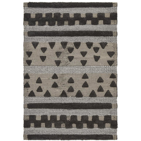 Quivira 473 Charcoal Grey Patterned Modern Rug - Rugs Of Beauty - 1