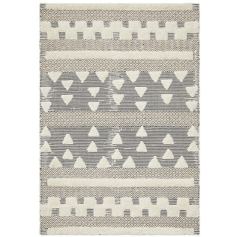 Quivira 473 Cream Grey Beige Patterned Modern Rug - Rugs Of Beauty - 1