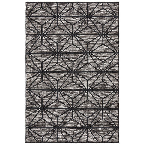 Quivira 477 Charcoal Grey Web Multi Coloured Patterned Modern Rug - Rugs Of Beauty - 1