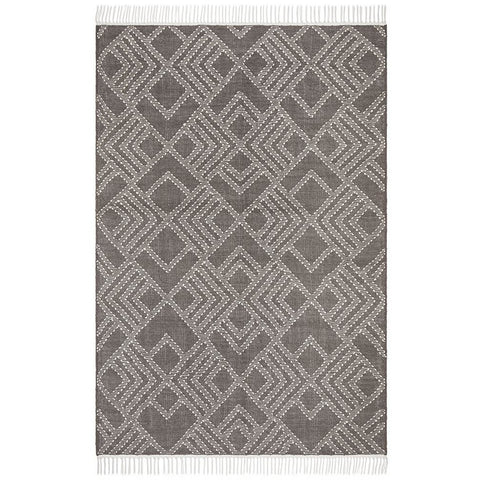 Quivira 479 Grey Beige Abstract Patterned Modern Rug - Rugs Of Beauty - 1