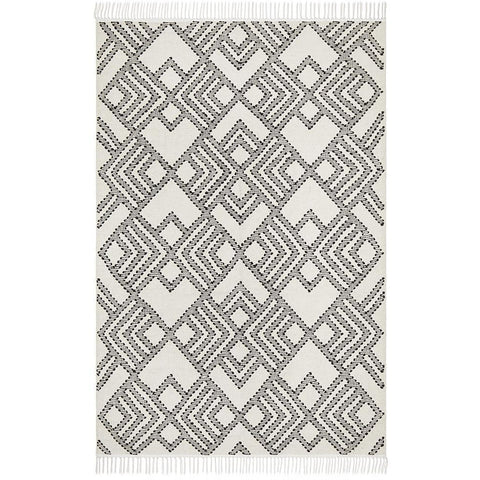 Quivira 479 Beige Black Abstract Patterned Modern Rug - Rugs Of Beauty - 1