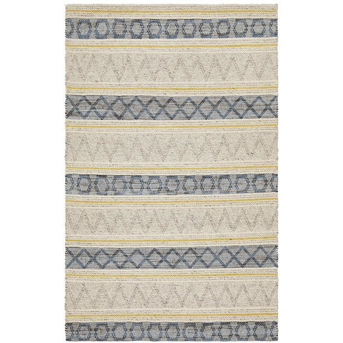 Quivira 480 Multi Coloured Abstract Patterned Modern Rug - Rugs Of Beauty - 1