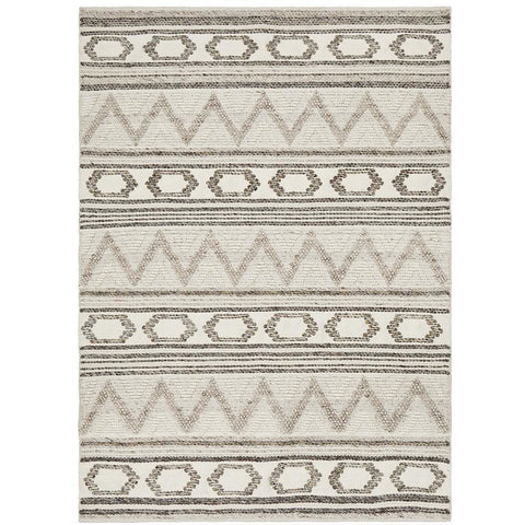 Quivira 483 Natural Earth Abstract Patterned Modern Rug - Rugs Of Beauty - 1