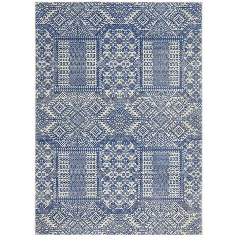 Manisa 751 Navy Blue Patterned Transitional Designer Rug - Rugs Of Beauty - 1
