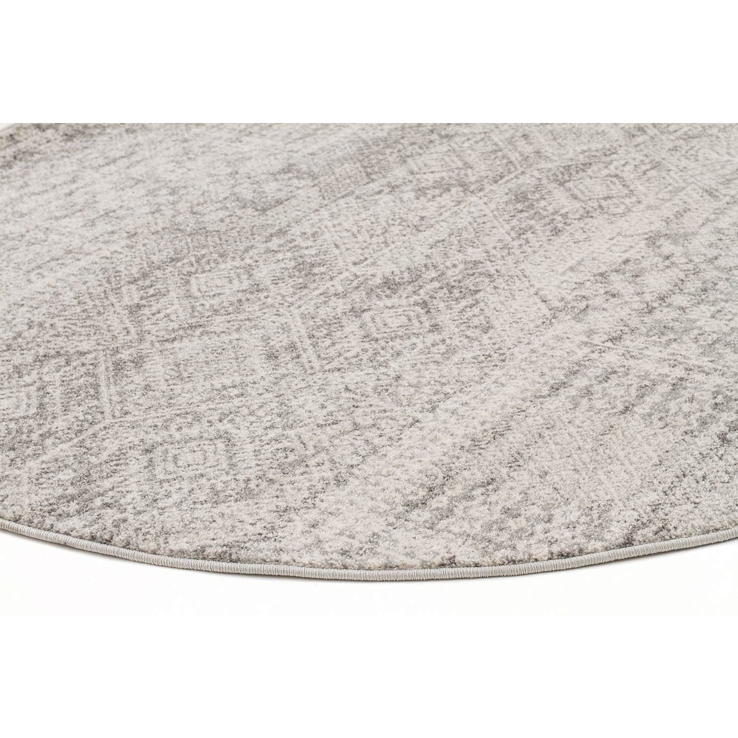 Manisa 751 Silver Grey Patterned Transitional Designer Round Rug