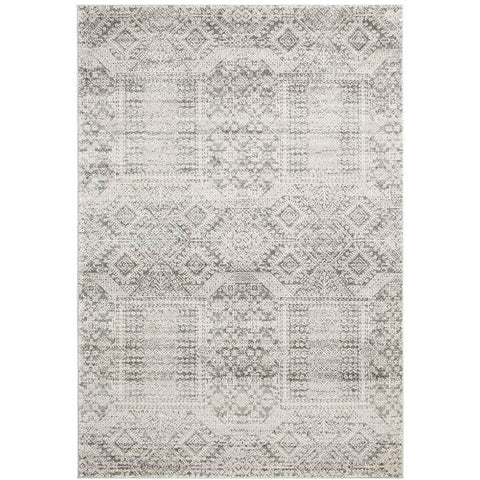Manisa 751 Silver Grey Patterned Transitional Designer Rug - Rugs Of Beauty - 1