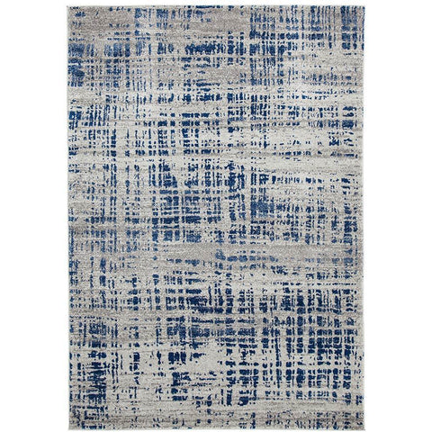 Manisa 752 Navy Blue Abstract Patterned Modern Designer Rug - Rugs Of Beauty - 1