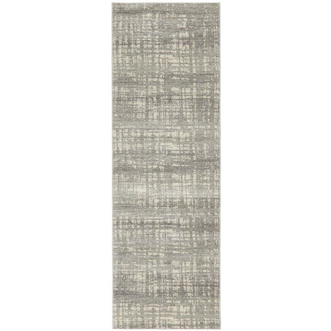 Manisa 754 Silver Grey Abstract Patterned Modern Designer Runner Rug - Rugs Of Beauty - 1
