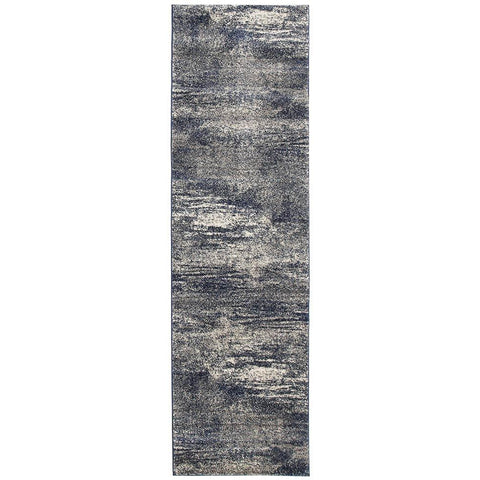 Manisa 755 Blue Abstract Patterned Modern Designer Runner Rug - Rugs Of Beauty - 1