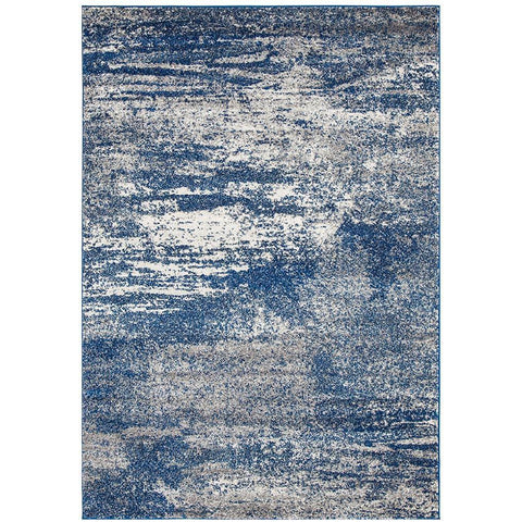 Manisa 755 Blue Abstract Patterned Modern Designer Rug - Rugs Of Beauty - 1