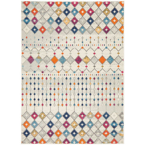 Manisa 756 Multi Coloured Patterned Transitional Designer Rug - Rugs Of Beauty - 1