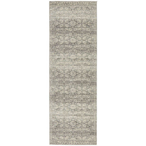 Manisa 758 Silver Grey Patterned Transitional Designer Runner Rug - Rugs Of Beauty - 1