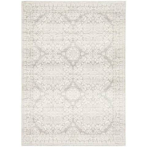 Manisa 758 Silver Grey Patterned Transitional Designer Rug - Rugs Of Beauty - 1
