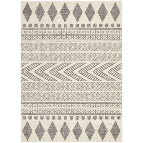 Manisa 759 Grey Patterned Beige Transitional Designer Rug - Rugs Of Beauty - 1