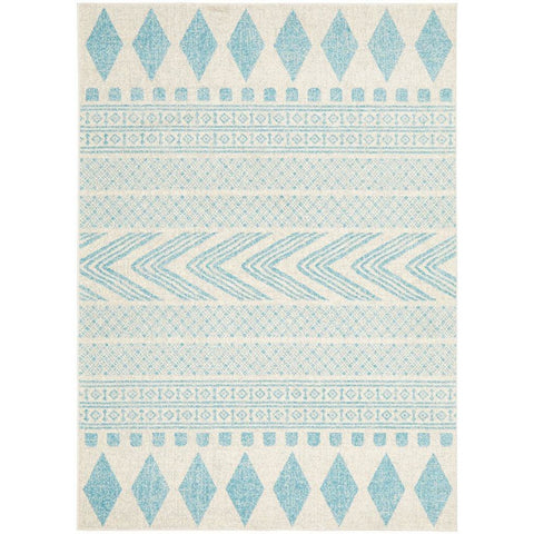 Manisa 759 Sky Blue Patterned Beige Transitional Designer Rug - Rugs Of Beauty - 1