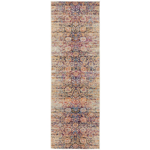 Manisa 760 Multi Patterned Transitional Designer Runner Rug - Rugs Of Beauty - 1