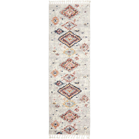 Ankara 3745 Silver Grey Modern Tribal Patterned Hallway Runner Rug - Rugs Of Beauty - 1