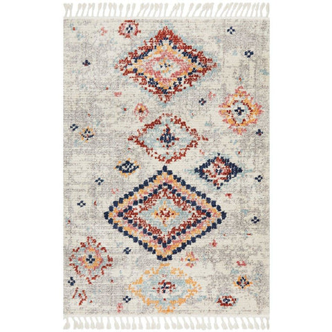 Ankara 3745 Silver Grey Modern Tribal Patterned Rug - Rugs Of Beauty - 1