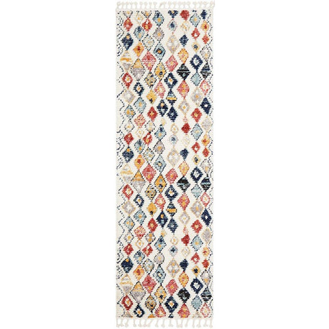 Ankara 3746 Multi Colour Modern Tribal Patterned Hallway Runner Rug - Rugs Of Beauty - 1
