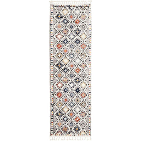 Ankara 3748 Grey Multi Colour Modern Tribal Patterned Hallway Runner Rug - Rugs Of Beauty - 1