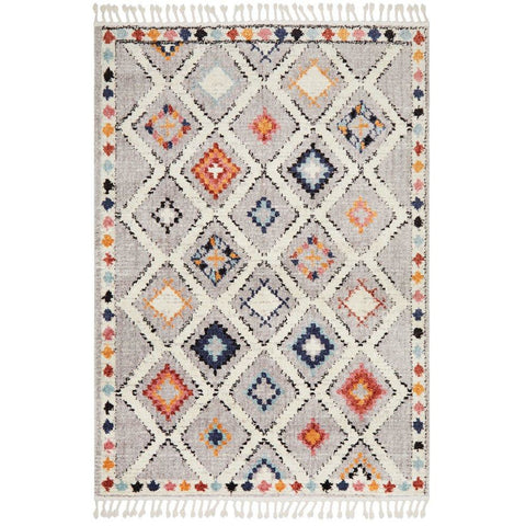 Ankara 3748 Grey Multi Colour Modern Tribal Patterned Rug - Rugs Of Beauty - 1