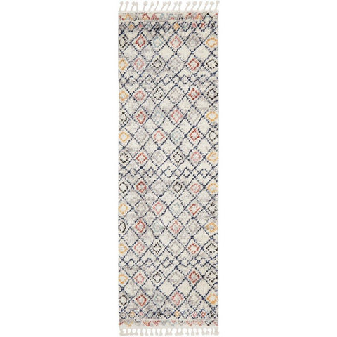 Ankara 3749 Multi Colour Modern Tribal Patterned Hallway Runner Rug - Rugs Of Beauty - 1