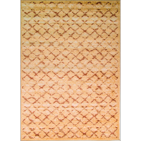 Designer Brown Criss Cross Court Perry Rug - Beige - Rugs Of Beauty - 1