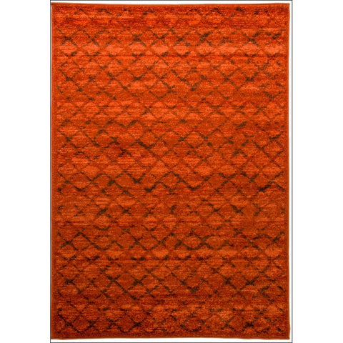 Designer Criss Cross Court Perry Rug - Rust - Rugs Of Beauty - 1