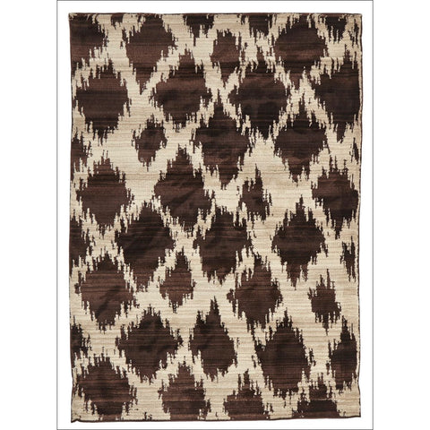 Zaida 449 Brown Beige Trellis Moroccan Rug - Rugs Of Beauty - 1