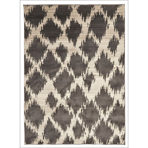 Zaida 450 Charcoal Grey Beige Trellis Moroccan Rug - Rugs Of Beauty - 1