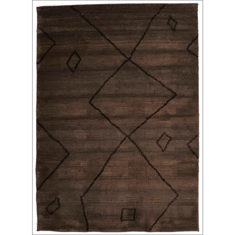 Zaida 463 Brown Abstract Pattern Moroccan Rug - Rugs Of Beauty - 1