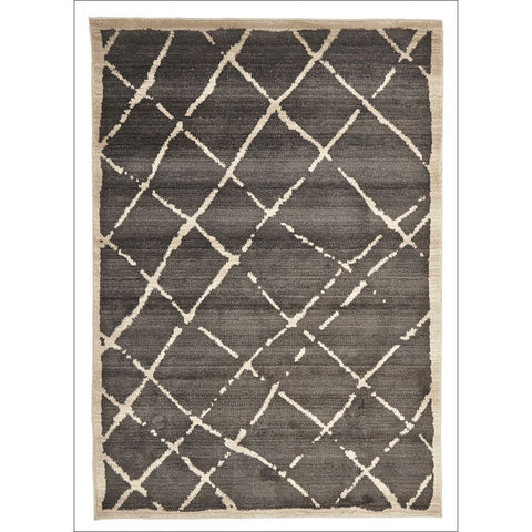 Zaida 458 Grey Beige Cross Hatch Moroccan Rug - Rugs Of Beauty - 1