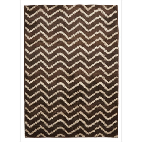 Zaida 451 Brown Beige Chevron Patterned Moroccan Rug - Rugs Of Beauty - 1